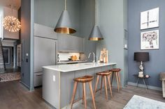 17071  elegant contemporary gray 6 interiors Industrial Spacious but with Stylish Glamour interior design
