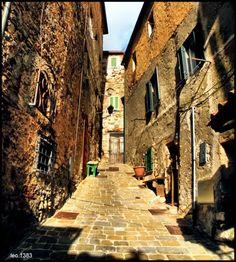 Old road in Campiglia Marittima, Tuscany