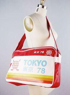 Red Tokyo Travel Bag $34