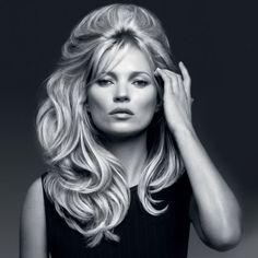 Kate Moss Channels Brigitte Bardot In New Kérastase Campaign Brigitte Bardot, Bridget Bardot Hair, Kate Moss, Miley Cyrus, Rihanna, Moss Fashion, Fashion Hair, 60s Hair, Retro Hair