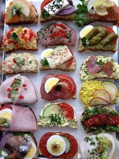 Open face Danish sandwiches