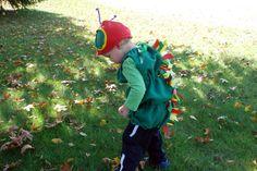 DIY Halloween Costume: Pottery Barn Inspired Very Hungry Caterpillar Costume