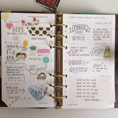 journal/agenda/diary @thedailyroe one of my favorite filofax instagrammers!