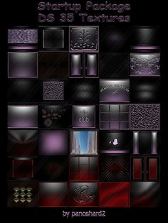 Startup Package DS 35 Textures for imvu rooms Imvu, Ds, Packaging, Rooms, Texture, Instagram Logo, Bedrooms, Surface Finish, Coins
