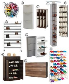 Lots of shoe storage ideas!