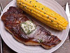 Upgrade butter by infusing it with garlic, then add it to sautéed vegetables and pasta and rub it onto roasted meats. Smashed Potatoes Recipe, Perfect Mashed Potatoes, Grilled Sweet Potatoes, Baked Potatoes, Steak Sides, Steak Side Dishes, Spinach Recipes, Asparagus Recipe, Clean Eating Recipes