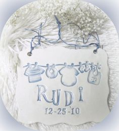 Birth Announcement Plaque Free Shipping by LaurelArts