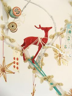 This is similar to the color scheme we use at Xmas. Love the reindeer.