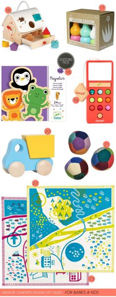 Creature Comforts holiday gift guide: for babies & kids