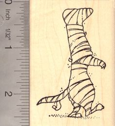 Halloween Ferret Mummy Rubber Stamp (H14101) $10 at RubberHedgehog.com