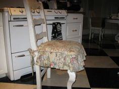 Kitchen Chair Cushions With A Long Ruffle