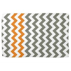 ORANGE AND GREY STRIPED HAND TOWEL - Google Search