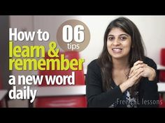 ▶ 06 tips to learn and remember a new English Vocabulary daily -- Free English Lessons - YouTube