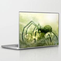 Spider green Laptop & iPad Skin