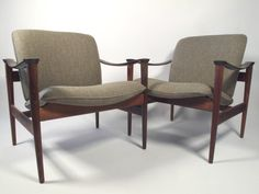 Fredrik Kayser Rosewood Model 711 Lounge Chairs