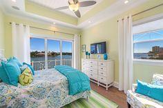 bright and cheery coastal bedroom