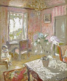 Edouard Vuillard / La Chambre rose [The Pink Bedroom] / about 1910 - 1911 Edouard Vuillard, Gallery Of Modern Art, Art Gallery, Galerie D'art Moderne, Impressionist Paintings, Paul Gauguin, Illustration, Paintings I Love, Fine Art