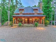 Timberlake Live Edge Log Home Cabin Style Homes, Log Cabin Homes, Log Cabins, Ranch, Hot Springs Arkansas, Copper Roof, Cabin Interiors, Timber Frame Homes, Cabins And Cottages