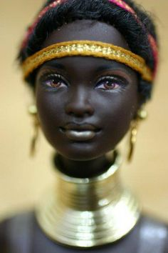 Black african doll