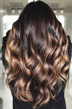 50 Vibrant Fall Hair Color Ideas to Accent Your New Hairstyle fallhair fallhaircolor fallhairstyles winterhaircolor Brunette Hair With Highlights, Brown Hair Balayage, Ombre Hair, Bayalage Brunette, Chocolate Brown Hair With Highlights, Peekaboo Highlights, Purple Highlights, Blonde Balayage, Hair Dye