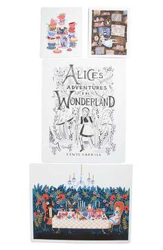 Rifle Paper Co. 'Alice' Wall Art Prints (Set of 4)