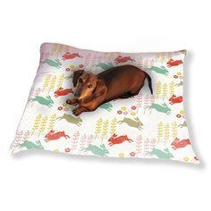 Uneekee Funny Bunny Hip Hop Dog Pillow Luxury Dog / Cat Pet Bed