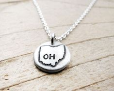 Tiny Ohio necklace  silver state jewelry silver by lulubugjewelry, $30.00