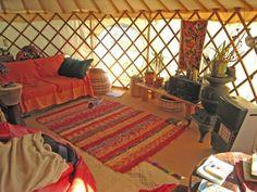 Interior of 6m yurt.