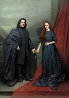 """""""Always."""" The couple that never was, and - Severus Snape and Lily Evans-Potter. Digital painting inspired… [Snape and Lily, Mirror of Erised. Lily Potter, Wiki Harry Potter, Lily Evans Potter, Arte Do Harry Potter, Harry Potter Severus Snape, Severus Rogue, Theme Harry Potter, Harry Potter Pictures, Harry Potter Quotes"""