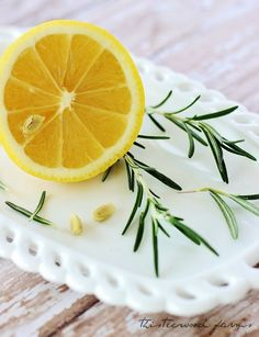 To create a personalized scent, Add two fresh lemons 2, stalks of rosemary, tsp of vanilla in 2 quarts of water bring to a boil then simmer...