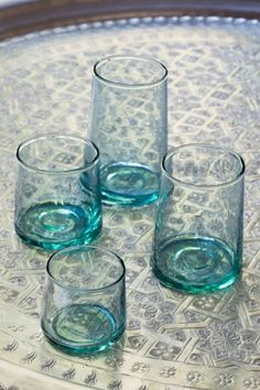 Recycled modern glasses/Verres Maroc by http://www.householdhardware.nl