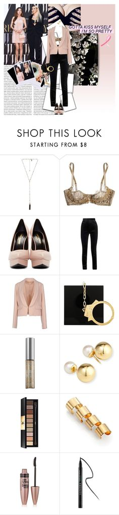 """""Wait a minute girl, where you goin?"""" by fruitmachine ❤ liked on Polyvore featuring Natalie B, Agent Provocateur, Yves Saint Laurent, Haider Ackermann, Bonsui, Charlotte Olympia, Urban Decay, Yoko London, Maison Margiela and Maybelline"