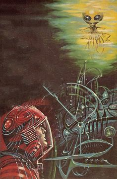 Cover by Ed Emshwiller for Alien Planet by Fletcher Pratt, 1963 - The Science Fiction Gallery