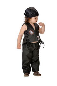 Gracioso disfraz de #motero para los bebés más duros.