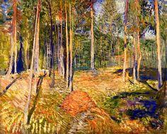 Pine Forest  Edvard Munch - 1891-1892