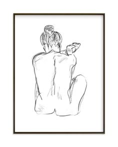 """Stretching"" - Art Print by Miranda Mol in beautiful frame options and a variety of sizes."