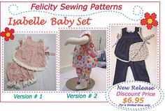 New Release! Sewing pattern for the Isabelle Baby Set, baby girls pdf sewing pattern sizes 3mths to 4 yrs https://www.etsy.com/listing/239768047/new-release-sewing-pattern-for-the?ref=shop_home_active_9