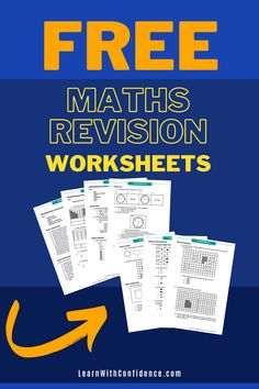 Every concept and topic is covered in this amazing set of Maths Revision Worksheets. Memo included. Suitable for Grade 4 - 6 students. What To Study, Maths Exam, Free Math Worksheets, Final Exams, Study Skills, Curriculum, Confidence, Students, Concept