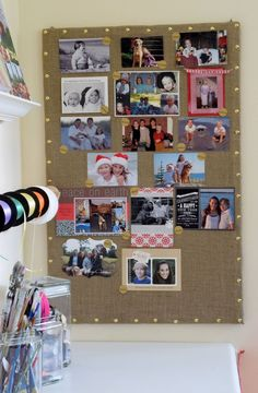 Craft a Bulletin Board to Share Your Christmas Cards/Photos All Year!