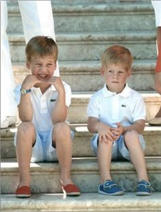 Prince William & Prince Harry.....I HAVE SEEN MANY PICTURES WHERE PRINCE WILLIAM IS GETTING SUCH A KICK OUT OF HIS LITTLE BROTHER, HARRY.........ccp