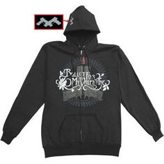 Bullet For My Valentine - Hooded Sweatshirts - Zippered Band $59.95