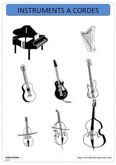 Un imagier thématique proposant 31 cartes et affiches avec les instruments de musique, répartis en 3 familles (vents, cordes et percussions).