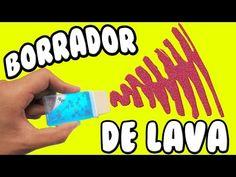 ► Haz un BORRADOR de LAVA‼ // DECORA tus UTILES ESCOLARES - YouTube