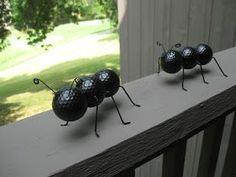 ant, recycling craft, golf ball craft, do it yourself, diy, fun craft, easy craf