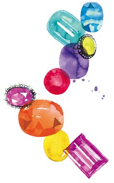 Tina Berning. Gemstone illustration for Tiffany & Co.