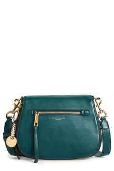 Love the color of this Marc Jacobs Recruit Nomad Pebbled Leather Crossbody Bag