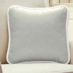 Light Pink Linen Square Decorative Pillow 500x500 image