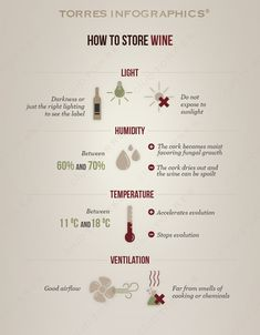 #Infography: How to store #wine.