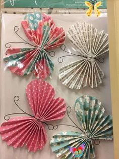 origami 8 #candles crafts decoration #origami<br> Paper Butterfly Crafts, Origami Butterfly, Paper Butterflies, Paper Flowers Diy, Paper Rosettes, Paper Pinwheels, Butterfly Room, Butterfly Mobile, Kids Crafts