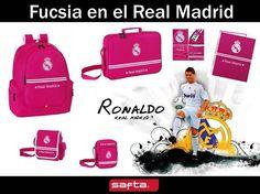 """Colección #Safta """"Real Madrid Rosa"""" en #papeleriamiguelturra: Mochilas, estuches, carpetas, bandoleras, cuadernos..."""